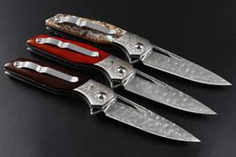 2019 padrão faca damasco Padrão 3D rápido faca dobrável damasco lâmina de acampamento ao ar livre caça Auto-defesa faca de sobrevivência faca tático desconto padrão faca damasco