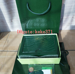 Argentina Más vendidos Verde Caja original Papeles Tarjeta Monedero Cajas Bolso para Oyster Perpetual Sea-Dweller 116610 116660 126710 126660 116520 Relojes cheap seas card Suministro