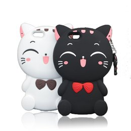 3d soft case cat Promo Codes - 3D Cartoon Silicone Cat for iPhone SE 2020 11 7Plus 6 6s 7 8 Plus X XR XS Max Case Phone Soft Cover