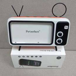 2019 pequeños altavoces bluetooth para iphone Peterhot PTH800 Reproduce el teléfono móvil y los relojes Ordenador Bluetooth Altavoz Bajo TV Altavoz Soporte para teléfono móvil Amplificador Exterior Pequeño Sonido pequeños altavoces bluetooth para iphone baratos