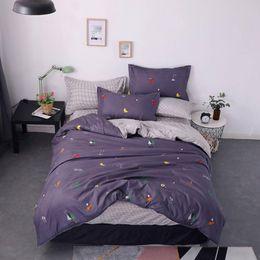 dibujos animados de verduras de frutas Rebajas 2019 Conjuntos de ropa de cama de frutas y verduras grises Cepillo de microfibra Ropa de cama de poliéster Twin Full Queen King Funda nórdica Juego de fundas de almohada