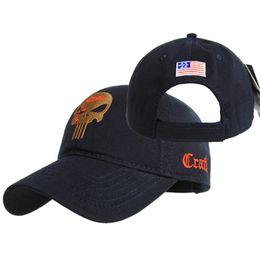2020 angepasste hüte Männer Frauen gestickte Amercian Punisher SEAL Team Cotton Lauf Hat Angepasst Hysteresen Baseballmütze rabatt angepasste hüte