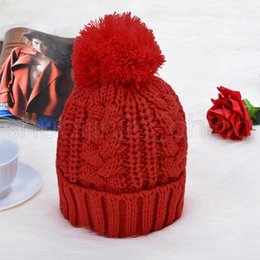 2020 conjuntos de cachecol para meninas Women Winter Hat Scarf Set Christmas Girls Boys Warm Knitted Caps Scarves Sets Fur Pompom Hat Female Beanies Caps TTA1423-14 conjuntos de cachecol para meninas barato