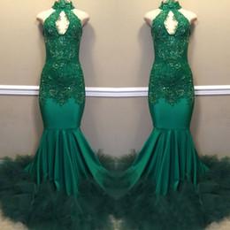Robes de bal élégantes vert foncé Keyhole cou dos nu longues robes de soirée robes faites sur mesure robes de soirée robes de soirée ? partir de fabricateur