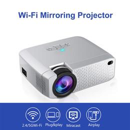 Canada Mini Projecteur Portable Mini HD Led Projecteur Connexion WiFi sans fil Projecteurs Projecteur 3D Projecteur 2019 nouvelle arrivée cheap led connections Offre