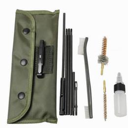 Lata limpa on-line-Kit de limpeza para rifle de 10 peças Para o .22LR 223, .257, etc. Qualquer coisa que seja de calibre .20 a 0,25 pode ser limpa com este kit.