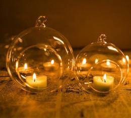 Cristal Verre Suspendu Bougeoir Bougeoir Maison Fête De Mariage Dîner Décor rond verre air usine bulle de cristal boules ? partir de fabricateur