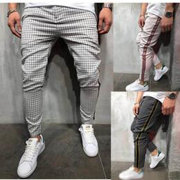 pantalones a cuadros de primavera para hombres Rebajas Mantas para hombre diseñador de los pantalones de los hombres pantalones a rayas ropa de otoño del resorte Pantalones