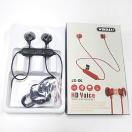 Ladegerät spieldose online-2019 JX-X6HD Bluetooth Kopfhörer Drahtlose Ohrhörer Für Musik Kopfhörer Stereo mit Magnetic Touch Charger Box für Ip X Sams Kleinpaket