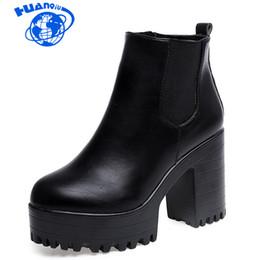 HUANQIU Botas Mujer женская мода сапоги квадратный каблук платформы Zapatos бедро высокие сапоги насос мотоцикл обувь wyq60 supplier women thigh heels от Поставщики женские каблуки бедра