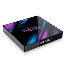 Giocatore bluetooth tv online-H96 MAX Android 9.0 TV Box da 2 GB 16GB RK3318 4k quad-core 2.4G 5G si raddoppia wifi 4k H.265 Bluetooth 4.0 Media Player VS T95 H96MAX TX3 HK1 MINI