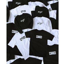 14e1bce0 18FW KITH GOT MILK SPLASH TEE Black White Box Logo T-shirt Men's Tees &  Polos) Men's T-Shirts 1