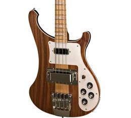 Argentina NUEVO Ric 4003W Natural Walnut Bass RARE WALNUT TRANSLUCENTE vintage 4003 Bajo eléctrico Guitar Neck Thru Body Una PC Neck Body Suministro