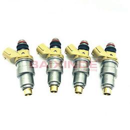nissan partes nuevas Rebajas 4x inyectores de combustible Establecer 23.250 hasta 11.100 23.209 hasta 11100 Para 92-95 Toyota Paseo 1.5L FJ177