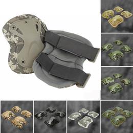 Caldo !!! Ginocchiere Gomitiere Protector Tactical Paintball Airsoft Knee Brace Maniche Compressione traspirante # 477168 supplier paintball pads da pattini di paintball fornitori
