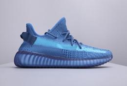 Мужские кроссовкиTrue Form Kanye West Black Светоотражающие Статические Gid Glow Clay Крем-Зебра Белый Beluga 2.0 Сезам RunniShoes Дизайнерская обувь от