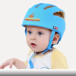 capacete ajustável Desconto Chapéus do bebê Crianças Andando Protetores de Cabeça De Patinação Caps Safty Ajustável Tecido de Algodão Moda Headguard Crianças Meninos Meninas Capacete com caixa L157