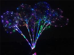 Ballons à LED clignotants Nuit Éclairage Bobo Ball Multicolore Décoration Ballon De Mariage Décoratif Lumineux Briquet Ballons Avec Bâton Chaud ? partir de fabricateur