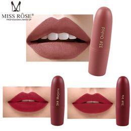 rossetto nero viola scuro Sconti Trucco labbra caldo Miss Rose Matte Lipstick bullet lipstick professional lip kit 20 colori spedizione gratuita