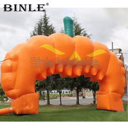 Arco de entrada on-line-Outdoor decoration 10x6mH giant inflatable halloween arch inflatable pumpkin arch entrance archway for promotional
