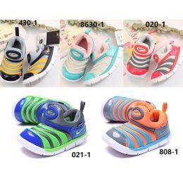 Zapatos nuevos de oruga online-Zapatillas de deporte de diseño para niños Zapatos para niña Zapatos unisex Caterpillar Zapatos para caminar primero para bebés Caminante deportivo de un pedal 2019 Nuevo Eur 22-37.5 Clot unisex
