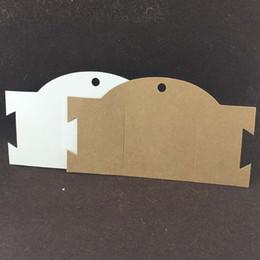 stands de fábrica por atacado Desconto Kraft Cartão Novo Hairband Colar Cartão de Exibição de Jóias Criativo Em Branco Aceitar Personalizado 16x9 cm 100 Pçs / lote