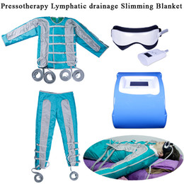 blood circulation massager Promo Codes - Air Pressure Pressotherapy Lymphatic Drainage Body Slimming Blanket Weight Loss Body Massager Blood Circulation Relieve Fatigue Machine