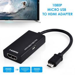 2019 vga cavi di colore Cavo audio micro USB a HDMI 1080P HD per adattatori per convertitori HDTV per tablet Samsung Android Phone