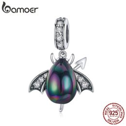 Argentina Venta al por mayor Crystal 925 Sterling Silver Little Insect Egg Charms Beetle Colgante Fit Charm Pulseras Collares Joyería SCC1063-K supplier wholesale insect pendants Suministro