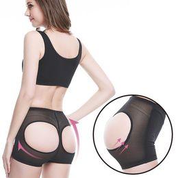 Bumbum aberto on-line-Senhoras Butt Lift Shaper Nádegas Butt Lift Underwear Cintura Alta Shaper Do Corpo Aberto Calcinha De Malha Calcinha Frete Grátis