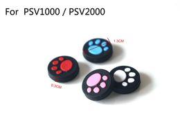 Gorras de garras de gato online-4 colores para PSV1000 / PSV2000 Cat Claw Goma de silicona Joystick Cap Thumb Stick Grip Grips Caps