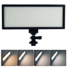L132T LED Luz De Vídeo Ultra Fino Display LCD Bi-Color Dimmable DSLR Estúdio Painel de Luz Da Lâmpada para Câmera DV Camcorder de