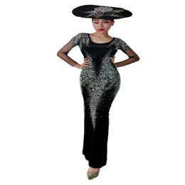 Argentina K31 Cantante vestido con diamantes Cantante sexy usa Rhinestone Talla ajustada falda de cadera traje de dj mujer trajes de baile de salón modelos música rave cheap female fit model Suministro