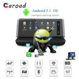2019 sensor duplo de 4 g Carro DVR 8 Polegada Full HD Android 5.1 Toque IPS ADAS Cashcam 4G WI-FI Bluetooth GPS G-Sensor de Visão Noturna Dual Lens Drive Recorder sensor duplo de 4 g barato