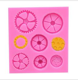 montres de roue Promotion Silicone Cake Mold Cuisine Montre Roue Engrenage Forme Chocolat Outils De Cuisson Pour Gâteaux Silicone Moule De Cuisson Accessoires Livraison Gratuite
