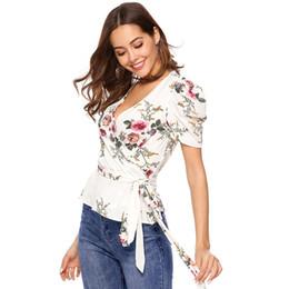 Короткий рукав шифон блузки онлайн-женские дизайнерские футболки блузки Модные женские с коротким рукавом Сексуальная блузка на шнуровке из сплошного цвета Рубашка Элегантные женские блузки Топы женские