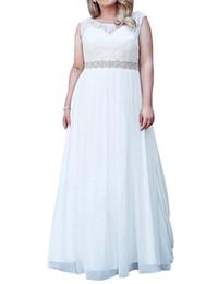 elie saab frühling brautkleid Rabatt Bohemian Chiffon Brautkleider mit Kristall Schärpe 2020 Plus Size Brautkleider Spitze Appliques Brautkleid