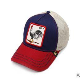 Cappelli da strada online-berretto da baseball personalizzato con personalità di moda di strada hip-hop di alta qualità stile moda animale gallo cappello Un minimo di 100