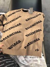 suéter de ganchillo suelto verano Rebajas El nuevo / invierno 2019 del diseñador de moda de otoño es un cuello redondo de alta gama de manga larga jersey de punto los hombres y de las mujeres del mismo estilo c