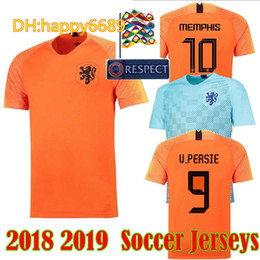 8f8c9b4d0b7 Nederland soccer jersey home orange HOLLAND ROBBEN SNEIJDER V.Persie  netherlands JERSEY 18 19 thai quality Dutch football shirts