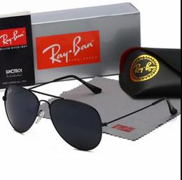 gran espejo solar Rebajas Con caja hot2020 rbBrand gafas de sol de diseñador metal grande Gafas de sol para las mujeres Espejo Plata 56mm 62mm lentes de cristal de protección UV