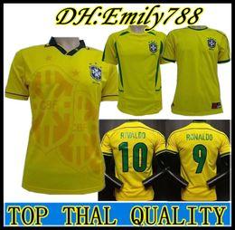 adb54c4305a soccer jersey ronaldinho 2019 - brazil 1994 1998 2002 Ronaldo Ronaldinho  Jerseys brasil Rivaldo Retro Classic