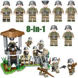 Ii guerra online-WW2 Seconda Guerra Mondiale Esercito tedesco Fronte di ferro Battaglia militare Building Block Soldato di mattoni Toy Assembly Figure