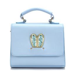 Симпатичные синие сумочки онлайн-PU Leather bing cute High quality  Bag Girl Woman Crossbody Handbags Women Bags Designer 2019 New Shoulder Bags Blue color