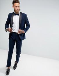 Costumes Noirs à La Mode Cravate Bleue Distributeurs En Gros