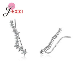 2020 pendientes para mujer sin orejas perforadas. Koeran Style Women Trendy Star Shape S90 Cubic Zircon Ear Clip Cuff Earrings Clip On Earring Jewelry Brinco Sin Piercing rebajas pendientes para mujer sin orejas perforadas.