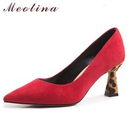New Arrivals Red Suede High Heels Dance Party Shoes Strange