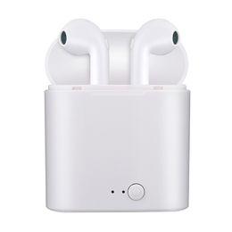 I7s Mini auriculares bluetooth inalámbricos en auriculares estéreo para auriculares con caja de carga para Apple iPhone 7 no airpods desde fabricantes
