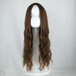 Milho americano on-line-2019 Dividido em franja Europeia e American Wig Ladies Corn Longo Encaracolado Africano Preto Moda Full Headset