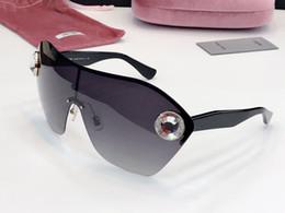 женские полурамные очки Скидка Роскошные Женские 68US Модельер Солнцезащитные Очки большая половина кадра Популярные Простой Стиль Очки Высочайшее Качество UV400 Защитные Линзы Очки